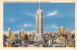 USA Midtown Skyline showing Empire State Bulding, New York City