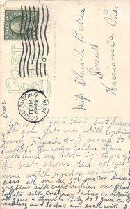 G94/ Conneaut Harbor Ohio Postcard 1914 Unloading Ore Boats Dock