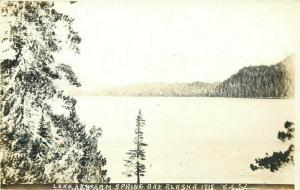 United States scenic real photo postcard lake Spring Bay Alaska