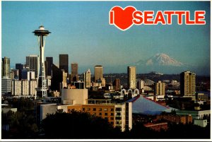 Washington Seattle Downtown Business District With Space Needle