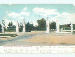 Pre-1907 GATES OF ROGERS WILLIAMS PARK Providence Rhode Island RI n6342