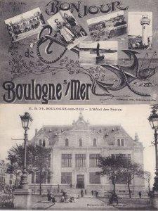 Boulogne Sur Mer D l'Hotel des Postes 2x Antique French Postcard s