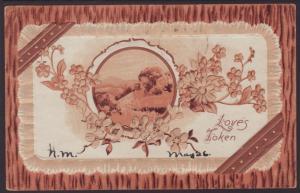 Loves Token,Flowers,Scene Postcard