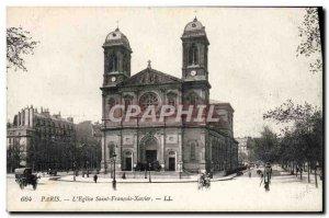 Old Postcard Paris L & # 39Eglise St. Francois Xavier
