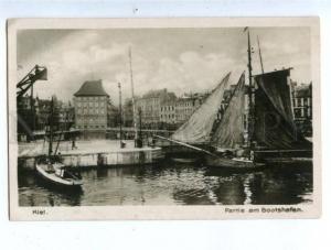 158584 Germany KIEL Marina Port Bootshafen Vintage postcard
