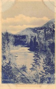 Flathead River At Belton, Montana 1906 Cyanotype Vintage Postcard