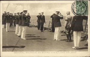 Dardanelles Operation TUCK Postcard General Gouraud on HMS Lord Nelson PC