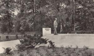Johannes Becher Denkmal Statue Bad Sarrow Pleskow Monument German RPC Postcard