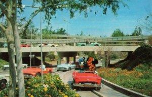 Postcard Tomorrowland Autopia Disneyland California