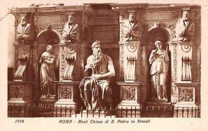 Moses Chiese di S Pietro in Vincoli Roma Italy Unused