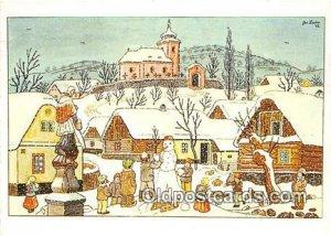 Artist Josef Lada J Lady Postal Used Unknown