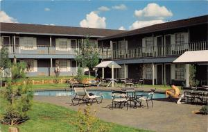 Sweetwater Texas~Best Western Sunday House Inn~People by Swimming Pool~1970s Pc