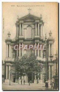 Old Postcard Metz Church St Vincent Facade Eighteenth century