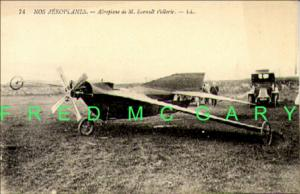 First Monoplane of Aviation Pioneer Esnault-Pelterie on PC, Note Enclosed