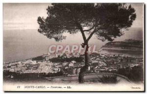 Old Postcard Monte Carlo Panorama