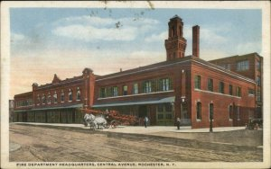 Rochester NY Fire Dept HQs 1917 Used Postcard