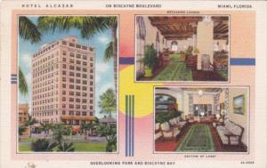 Florida Miami Hotel Alcazar Interior Views Curteich