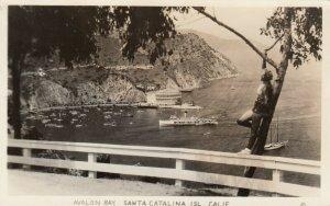 RP: SANTA CATALINA , California , 1930-40s ; Avalon Bay