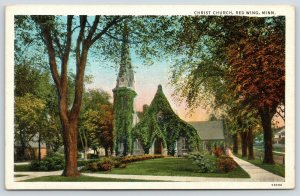 Red Wing Minnesota~Ivy Covered Christ Church~Residential Neighborhood~1920s PC