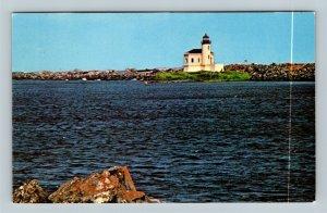 OR Coast OR, Bandon By The Sea Lighthouse, Chrome Oregon Postcard