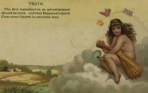 ALBANY NY - FERGUSON QUICK CURE - TRUTH - VICTORIAN MEDICINE QUACK Trade Card