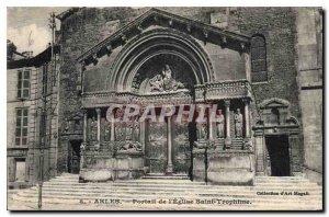 Old Postcard Church St. Trophime Portal