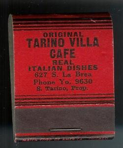 TARINO CAFE California 1940's Full Unstruck Matchbook