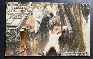 Mint Color Picture Postcard British convict Ship Success Branding Prisoners