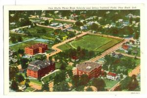 Aerila View, Pine Bluffs Three High Schools and Zebra Football Field, Arkansa...