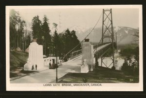 Postmarked 1952 Lions Gate Bridge Vancouver Canada Gowen Sutton Postcard
