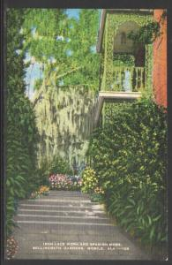 Iron Lace Work,Bellingrath Gardens,Mobile,AL Postcard