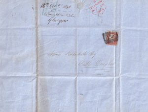 Glasgow 1950 Penny Red Victorian Childrens Book Publishers Scottish Letter