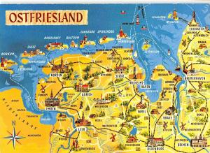B99042 ostfriesland germany  maps cartes geographiques