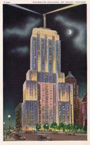 Illinois Chicago Palmolive Building By Night