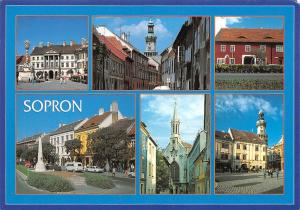Hungary Sopron multiviews Kirche Church Street Cars Voitures Monument