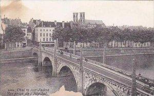 France Chalon sur Saone Vue prise de l'Hopital