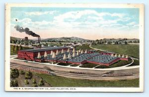 Postcard OH East Palestine The W.S. George Pottery Company Airview of Plant I11