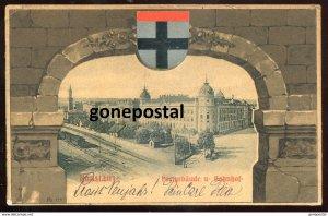 dc1467 - GERMANY Konstanz 1902 Postyebaude u.Bahnhof. Patriotic