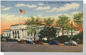Beautiful Detroit, Michigan/MI Postcard, Institute Of Arts
