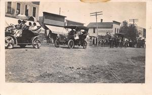 Wolsey SD 4th of July Parade~Bunting Decorated Auto~Buggy~Bank~Co-Op~RPPC 1908