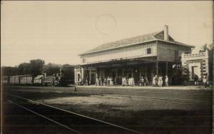 Africa RR Train Station Publ in Morocco  - Souss-Massa? Spark-plug Train RPPC