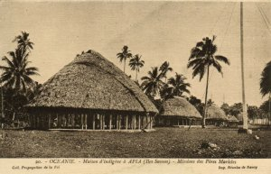 PC CPA SAMOA, PACIFIC, APIA, MIDDIONS DES PÉRES MARISLES, Postcard (b19427)