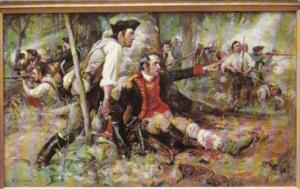 General Herkimer At Oriskany American Revolutionary War