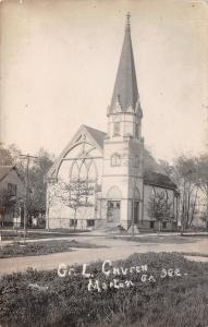 Morton Grove Illinois~German Lutheran Church on Corner~House~1918 RPPC