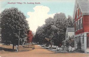 Strafford Village Vermont Street Scene Looking South Antique Postcard J63074