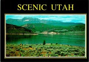 Provo UT Deer Creek Reservoir Postcard Unused (28129)