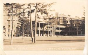 Lake Placid Club New York Agora Street View Real Photo Antique Postcard K100797