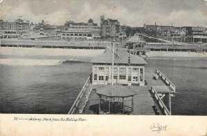 Asbury Park, New Jersey View from the Fishing Pier 1913 Vintage Postcard