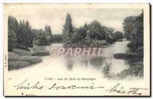 Postcard Old Paris Lake Bois de Boulogne