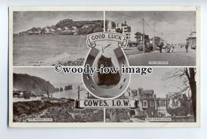h1277 - Isle of Wight - Multiview x 4 of Island Scenes from Cowes - Postcard